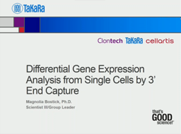 Differential gene expression analysis from single cells by 3' end capture