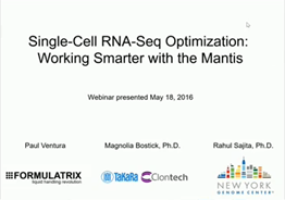 Single-cell RNA-seq optimization: working SMARTer with the Mantis