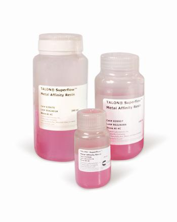 His-tag purification TALON metal affinity resins are available in different sizes