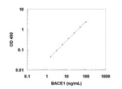A typical standard curve obtained the BACE1 ELISA Kit